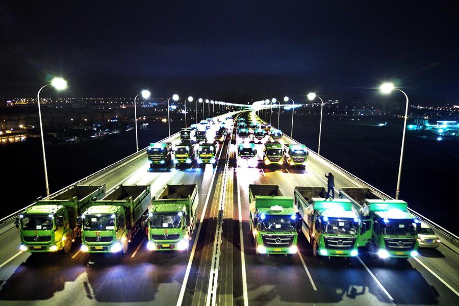 26日至28日苏通大桥荷载试验 0时至5时双向交通管制