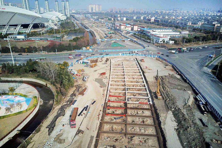 南通啬园路快速化改造工程稳步推进